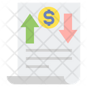 Income Statement Balance Earning Icon