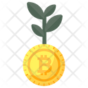 Bitcoin Growth Money Growth Digital Currency Icon