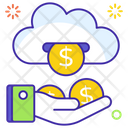 Income Stream Financial Cloud Cloud Business Icon