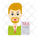 Tax Employee User Icon
