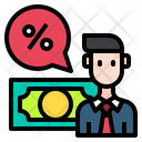 Business Man Discount Icon
