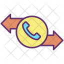 Incoming Outgoing Call Icon
