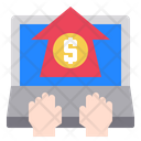 Bussiness Hand Computer Icon