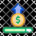 Increase dollar value Icon