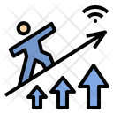 Graph Signal Increase Icon