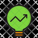 Light Blub Idea Graph Icon