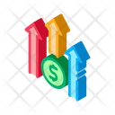 Dollar Increase Investment Icon