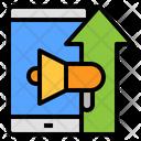 Increase Mobile Marketing Icon