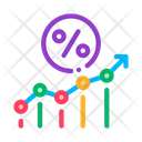Line Percent Financegrow Icon