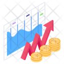 Business Growth Business Raise Financial Growth Icon