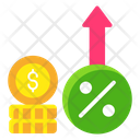 Increase Rate Interest Rate Rebate Icon