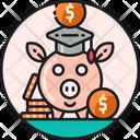 Increased Scholarships Finance Education Saving Money Icon