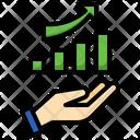 Increasing Bar Graph Icon