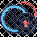 Button Incubation Period Coronavirus Clock Icon