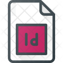 Indd File Indesign Icon