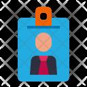 Nametag Id Card Icon