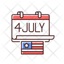 Independence Flag Holiday Icon