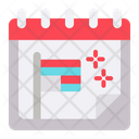 Independence Day Date Schedule Icon