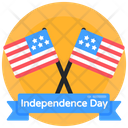 Independence Day Independence Day Banner Flags Icon