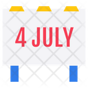 Independence Date Freedom Day Independence Day Banner Icon