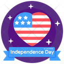 Independence Day Banner Happy Indepence Day 4th July Banner Icon