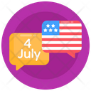 Independence Day Chat Communication Message Icon