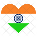 Independence Day Love Icon