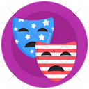 Independence Day Masks Theater Masks Movie Masks Icon