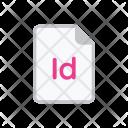 Indesign Adobe White Icon