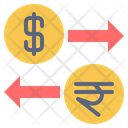 Usa India Currency Icon