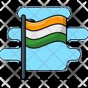 India Flag Landmark Nationality Icon