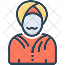 Indian Turban Oriental Icon