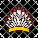 Indian Headgear War Bonnet Icon
