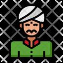 Indian Man Indian Pilgrim Icon