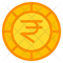 Indian Rupee Coin Currency Icon