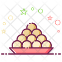 Indian Sweet Traditional Sweet Ladoo Icon