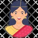 Indian Woman Indian Female Human Icon