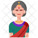Indian Woman Asian Icon