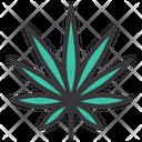 Indica Hemp Leaf Icon
