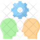 Individual Personality Cogwheel Mindset Icon