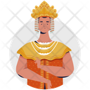 Indonesian Women King Dress Icon