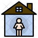 Indoor Isolation Covid Icon