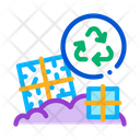 Industrial Building Recycle Icon