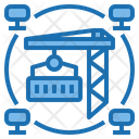 Industrial Big Data Blockchain Icon