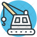 Industrial Crane Loading Icon