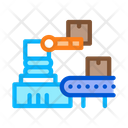 Robotic Manufacturing Process Icon