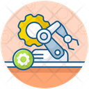 Automated Solutions Industrial Automation Management Engineering Icon