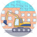 Industrial Crane Construction Crane Excavator Icon