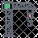 Tower Crane Heavy Machinery Crane Machine Icon