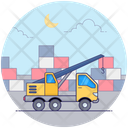 Industrial Logistic Crane Construction Crane Excavator Icon